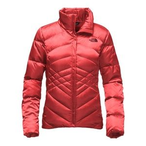 North Face Aconcagua Jacket In Spiced Coral